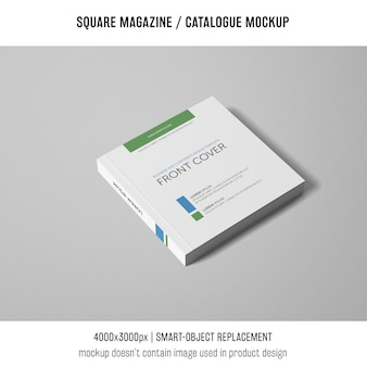 Professional square magazine or catalogue mockup
