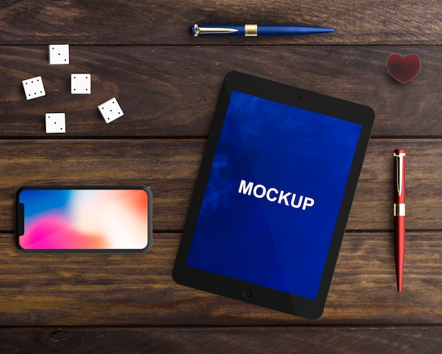 Professional tablet and smartphone mockup