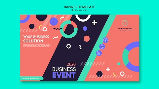 Professional template for business event