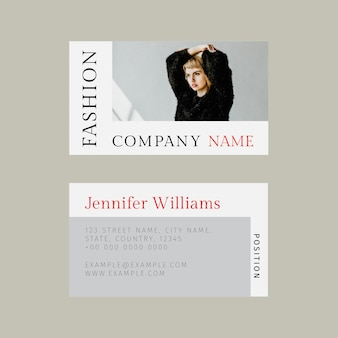 Professional template fashion psd business card