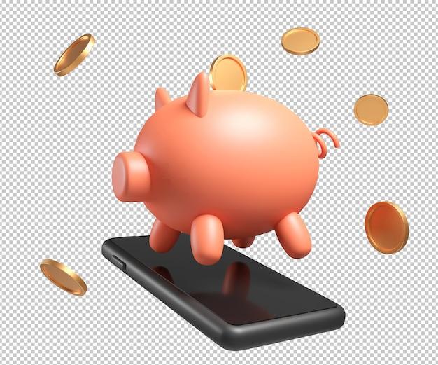 이익 돼지 돈 3d 그림