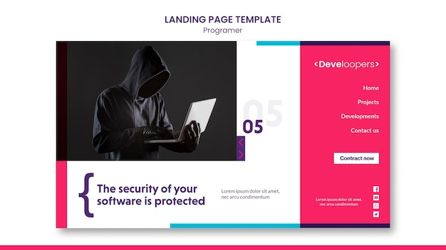 Programmer ad template landing page