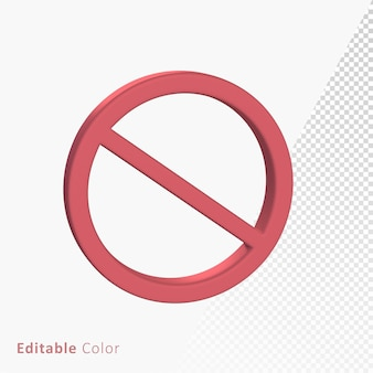 Prohibited banned 3d mark symbol premium psd