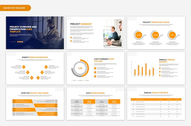 Project overview and presentation slide template