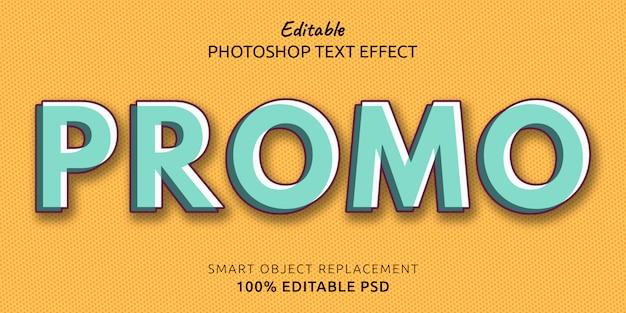 Эффект стиля редактируемого текста для рекламы