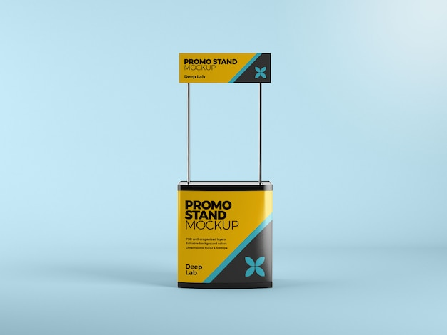 Promo stand with editable mockup psd