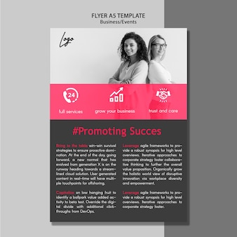 Promoting success flyer template