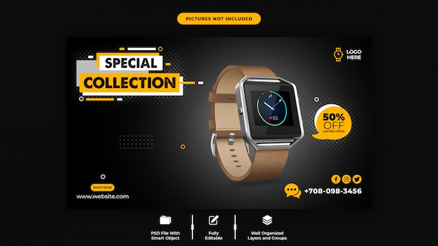 Promotion product sale web banner template