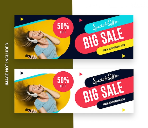 Promotion social media cover template