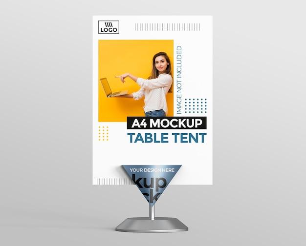 A4 ディスプレイ用のプロモーション 3d テーブル テント モックアップ