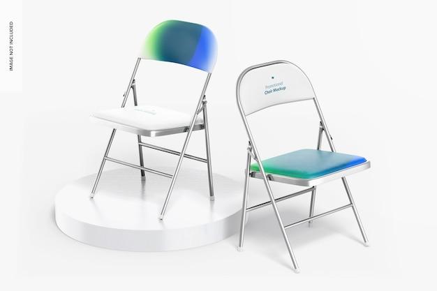 Рекламный макет чехлов на стулья, перспектива