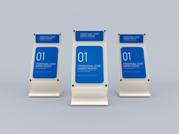 Promotional event glass stand mockup