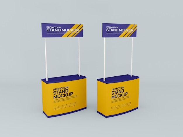 Promotional event stand banner mockup