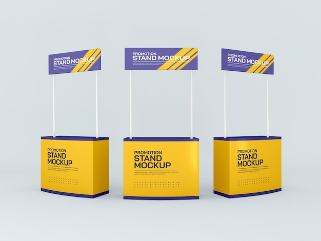 Promotional event stand banners mockup