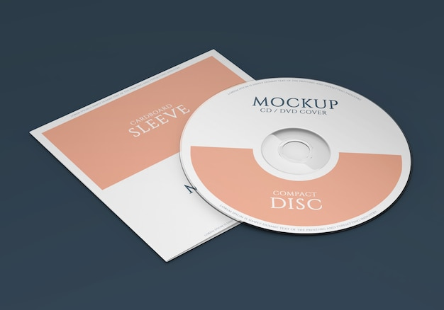 Promotional material cd package mockup