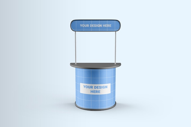 Promotional stand mockup