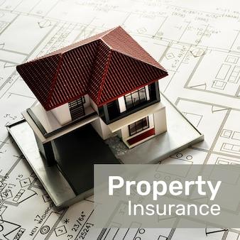 편집 가능한 텍스트가 있는 소셜 미디어용 부동산 보험 템플릿 psd
