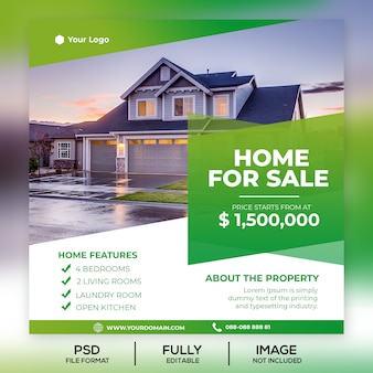 Property sale instagram template post