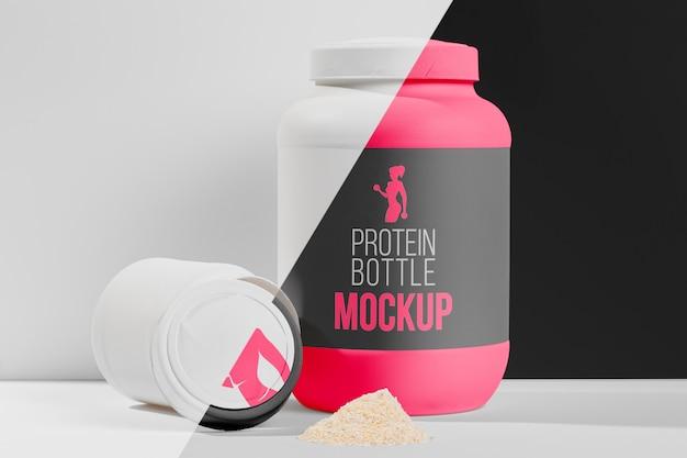 Bottiglia di proteine per mock-up da donna