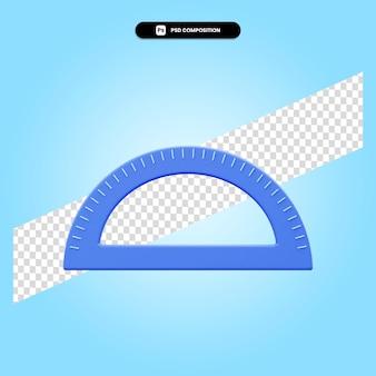 分度器度定規3dレンダリングイラスト分離