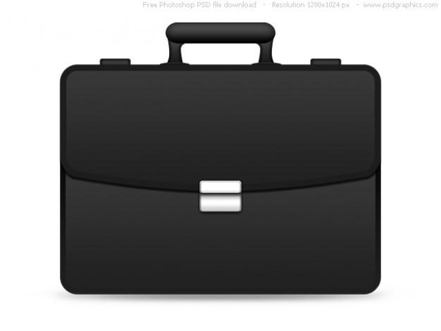 Psd черная икона портфель