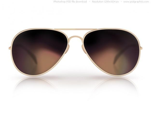 Psd black sunglasses icon