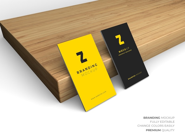 Psd business card mockup design isolated