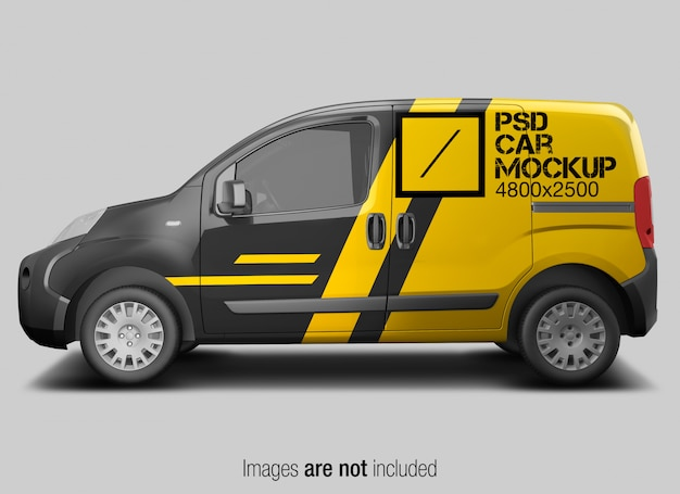 Psd car mockup side view
