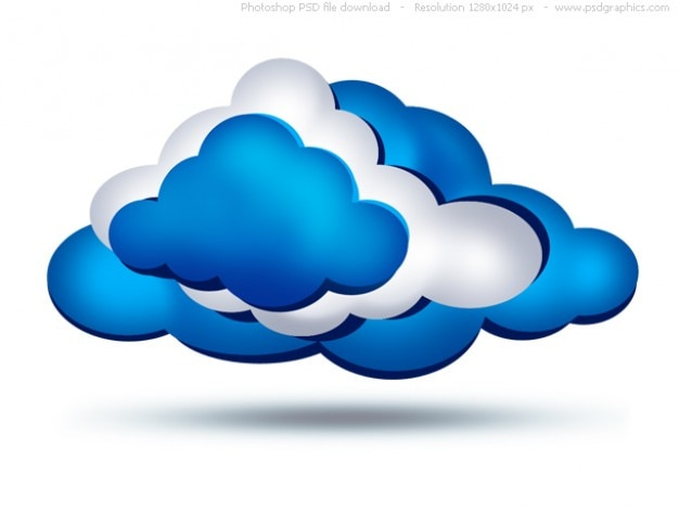 Psd clouds icon