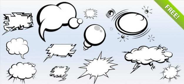 Psd comics bubbles pack