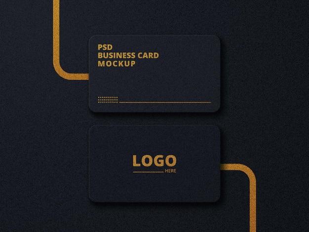 Psd editable business card mockup