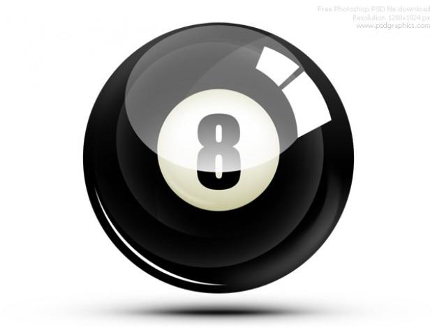 Psd eight ball icon