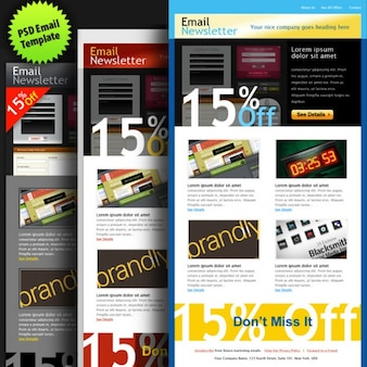 Psd email template in  colors