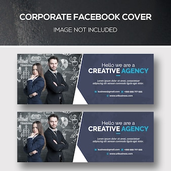 Psd шаблон обложки корпоративного facebook