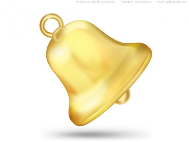 Psd gold bell icon