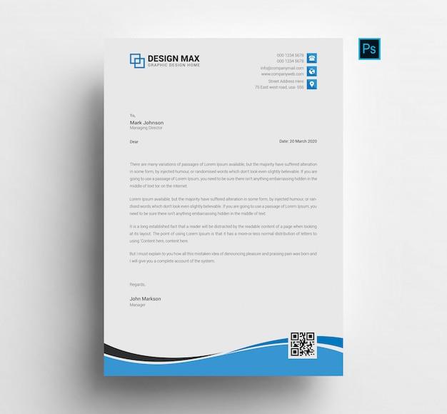 Psd letterhead template