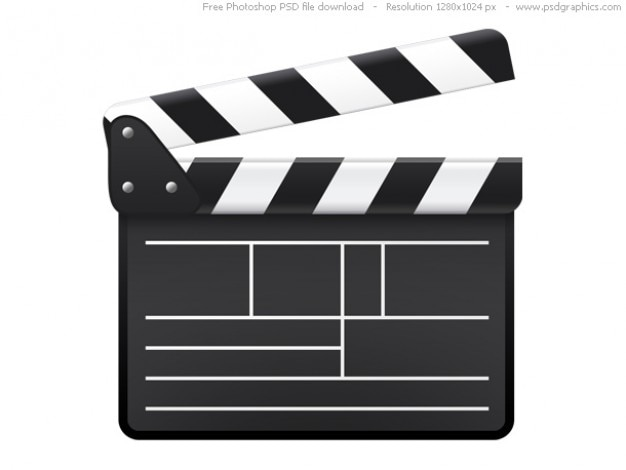 Psd movie clapboard icon
