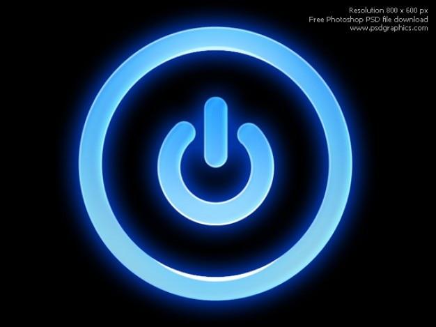 Psd pulsante di accensione