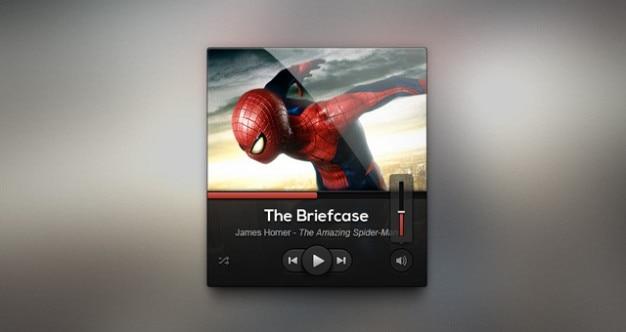 Мрачную музыку интерфейса игрок дизайна psd psd веб-элементы pixeden