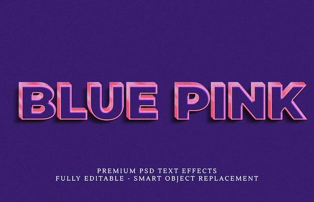 青いテキストスタイル効果psd、プレミアムpsdテキスト効果