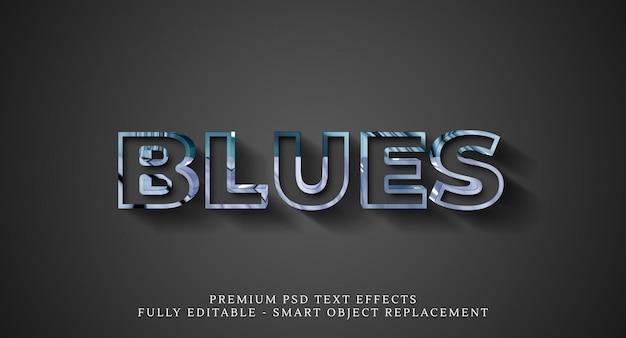 Синий текстовый эффект psd, премиум psd текстовые эффекты