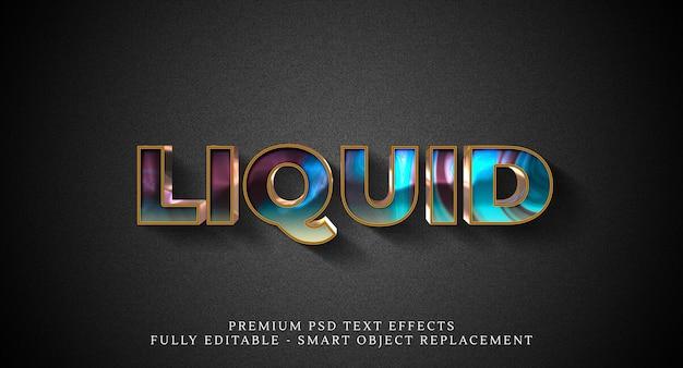 液体テキストスタイル効果psd、プレミアムpsdテキスト効果