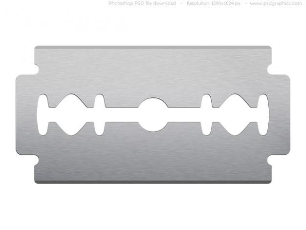 Psd razor blade on white