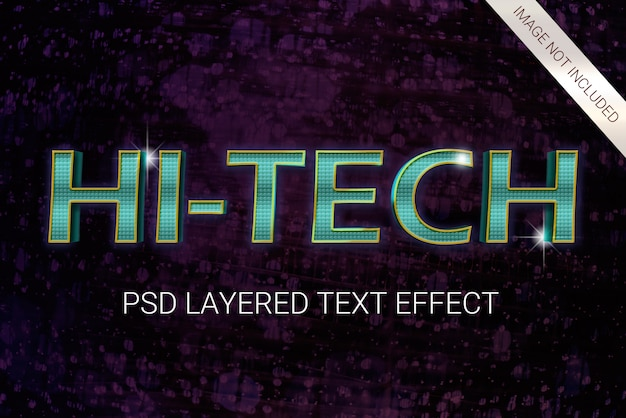 Psd science fiction futuristic 80s layered text effect