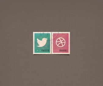 Psd social buttons social icons stamp