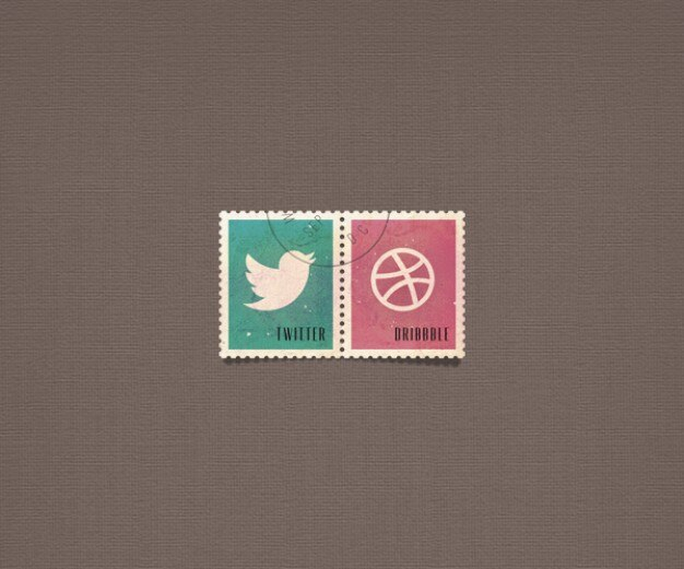 Psd pulsanti sociali sociale bollo icone