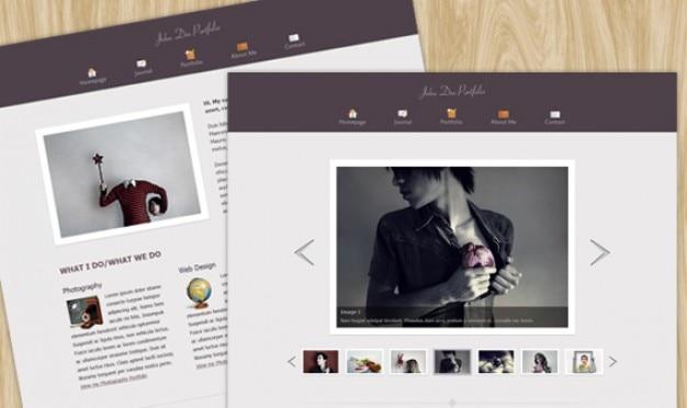 Psd template for portfolio & blog 2