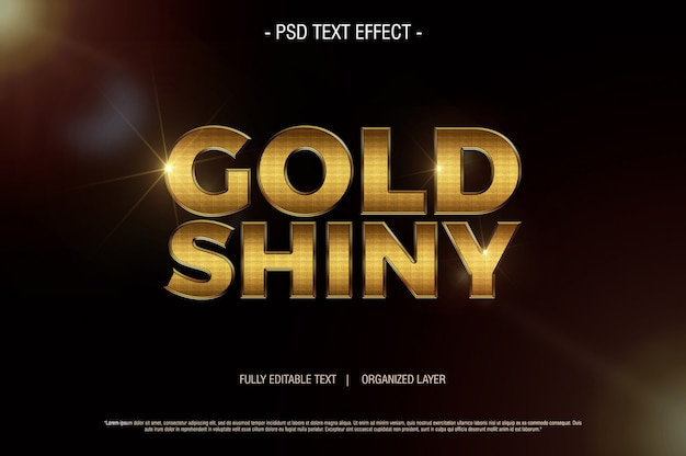 Psd text effect gold shiny