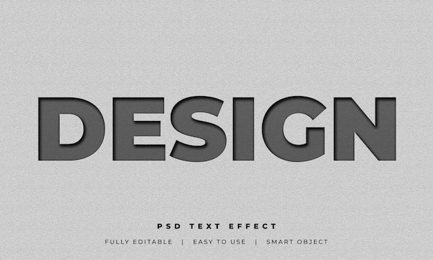 Psd text style effect mockup