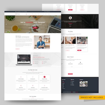 モダンで創造的なウェブサイトテンプレート代理店テンプレートプレミアムpsd